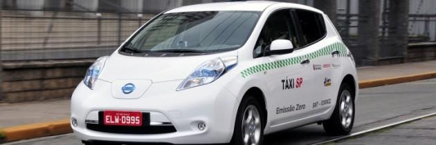 Táxis Elétricos seguem chamando atenção em SP